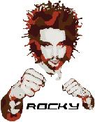 Bild: Logo Rocky T-Shirts - Bangkok Shirt Connection